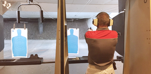 Man At the Firing Range